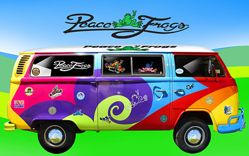 """""""On the Bus"""" - Peace Frogs Free Wallpaper Download"""