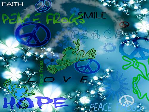 """Kinda Blue"" - Peace Frogs Free Wallpaper Download"