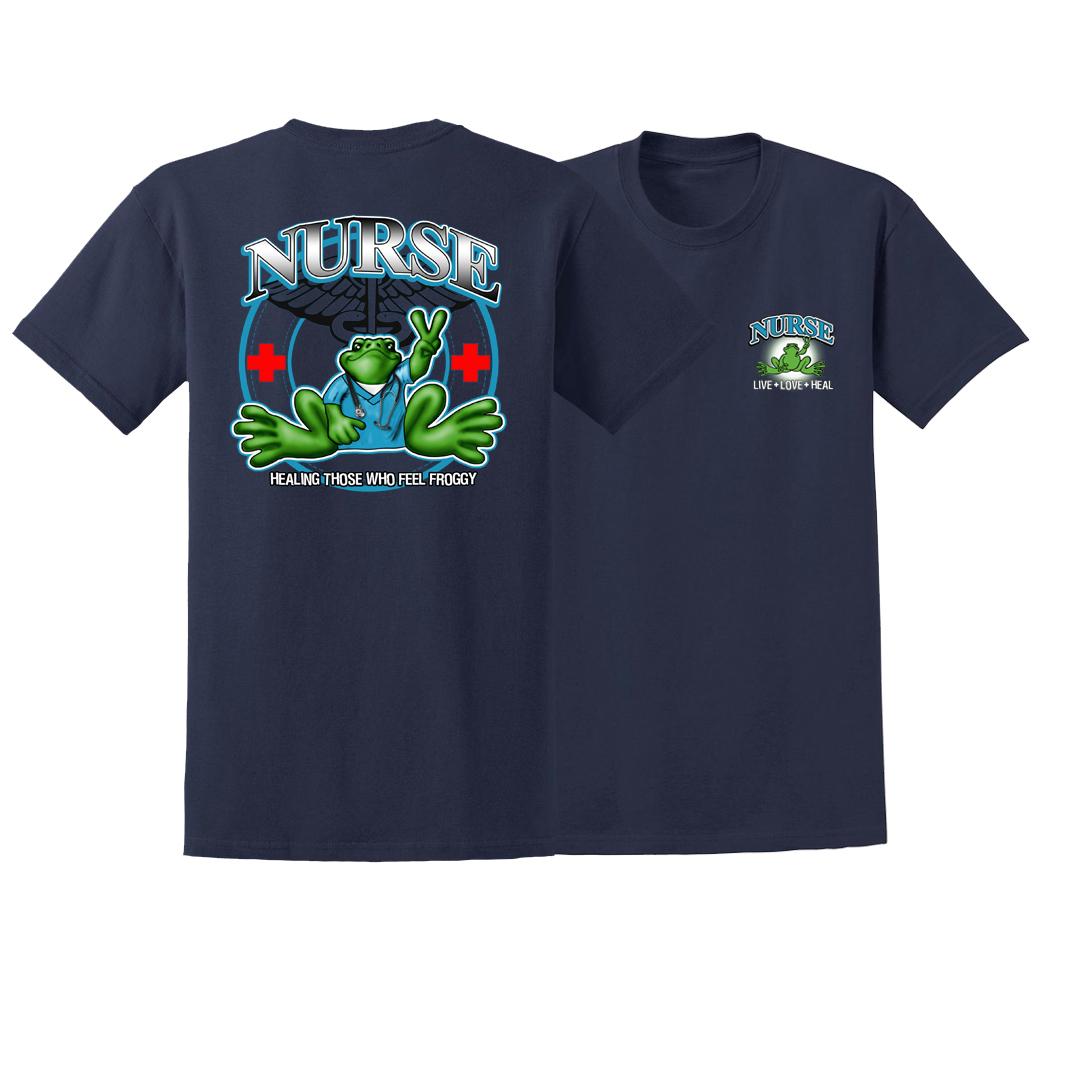 Peace Frogs Adult Nurse Short Sleeve T-Shirt