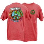 Peace Frogs Adult Peace Around the World Short Sleeve T-Shirt