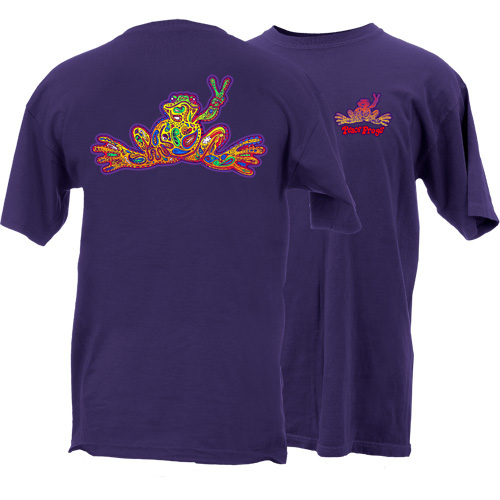 Peace Frogs Adult Paisley Frog Short Sleeve T-Shirt