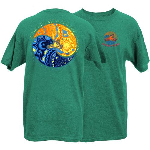 Peace Frogs Adult Sun Moon Ying Yang Short Sleeve T-Shirt