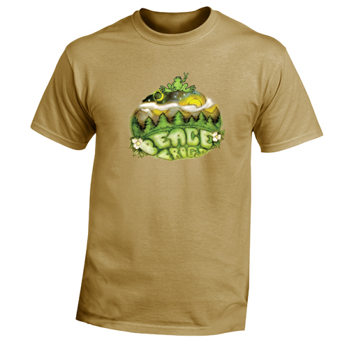 Peace Frogs Adult Outdoor Peace Short Sleeve T-Shirt
