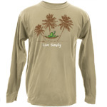Peace Frogs Live Simply Hammock Adult Long Sleeve T-Shirt