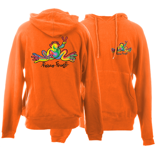 Peace Frogs Retro Printed Adult Hooded Pullover Sweatshirt