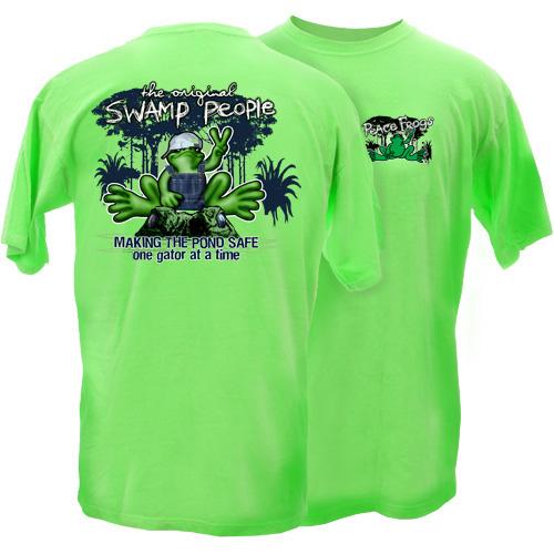 Peace Frogs Swamp People Short Sleeve Kids T-Shirt