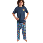 Peace Frogs Adult Button Pajama Loungepant