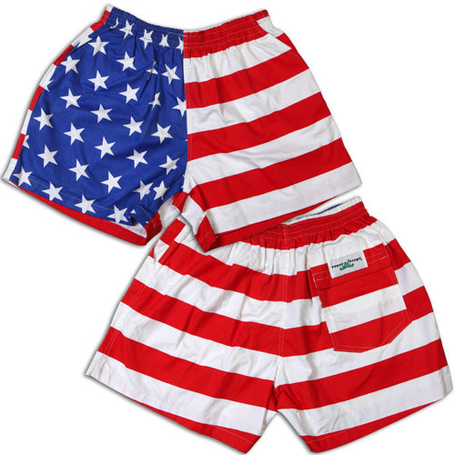 Peace Frogs USA Adult Flag Shorts