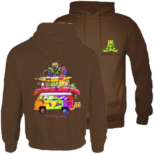 Peace Frogs Loaded Van Adult Hooded Pullover Sweatshirt