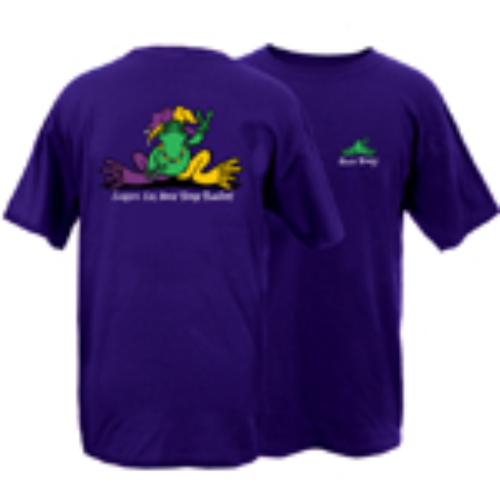 Peace Frogs Mardi Gras Frog Short Sleeve T-Shirt