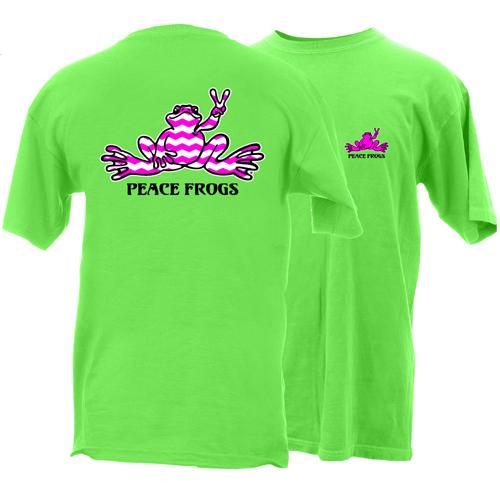 Peace Frogs Chevron Frog Short Sleeve T-Shirt