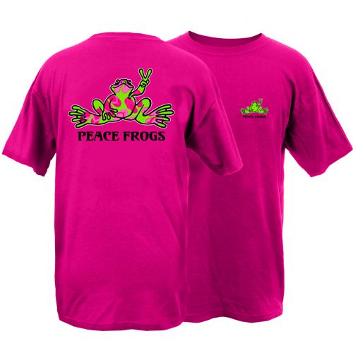 Peace Frogs Flip Frog Short Sleeve T-Shirt