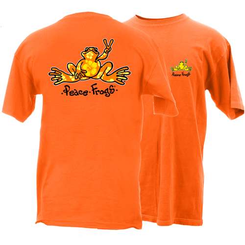 Peace Frogs Hibiscus Frog Short Sleeve T-Shirt
