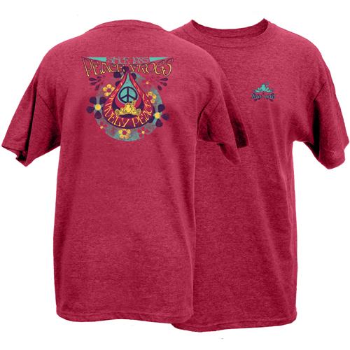 Peace Frogs Adult Teardrop Frog Short Sleeve T-Shirt