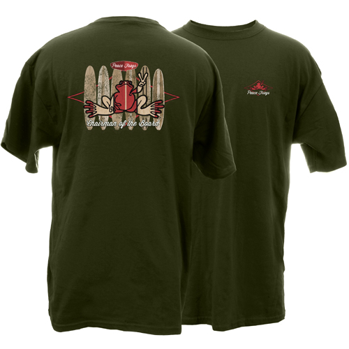 Peace Frogs Chairman of the Board Short Sleeve T-Shirt