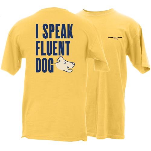 Speak Fluent Dog Peace Dogs Short Sleeve Garment Dye T-Shirt