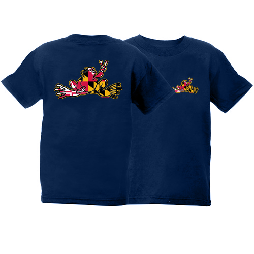 Peace Frogs Maryland Frog Short Sleeve Kids T-Shirt