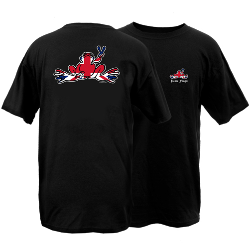 Peace Frogs Britain Flag Frog Short Sleeve T-Shirt