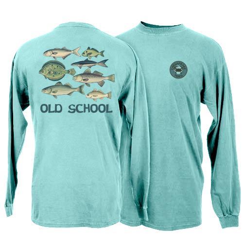 Chesapeake Tides Adult Old School Garment Dye Long Sleeve T-Shirt