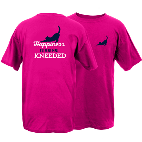 Happiness is Being Kneeded Peace Dogs Short Sleeve T-Shirt