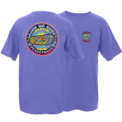 Peace Frogs Walking on Sunshine Frog Garment Dye Short Sleeve T-Shirt