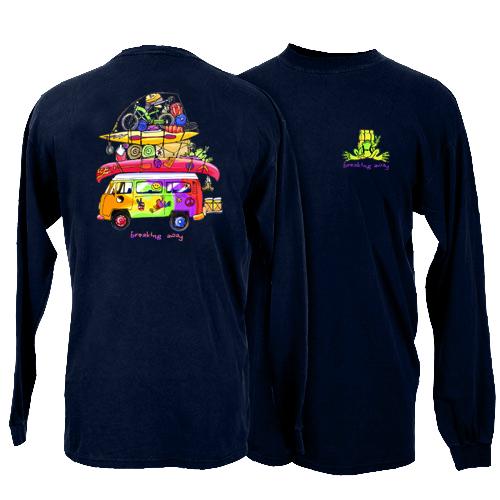 Peace Frogs Loaded Van Adult Long Sleeve T-Shirt
