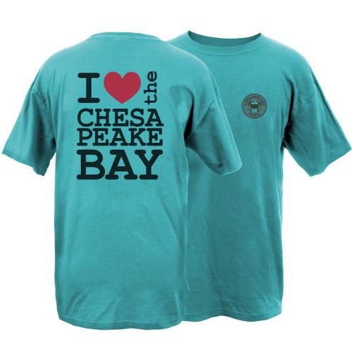 Chesapeake Tides Heart the Bay Garment Dye Short Sleeve T-Shirt