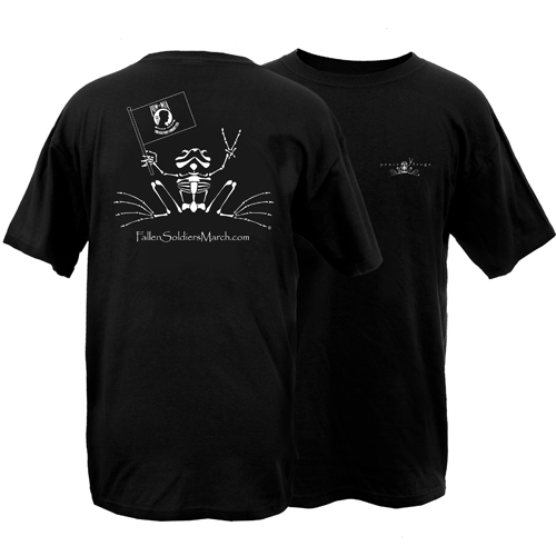 Fallen Soldiers March Rest In Peace Frog Adult Short Sleeve T-Shirt