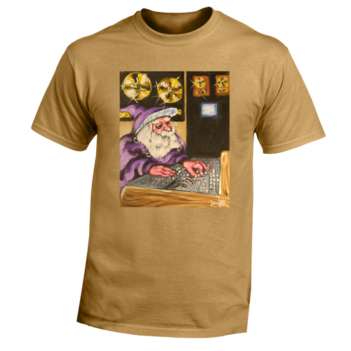 Beyond The Pond Adult Recording Engineer Wizard Short Sleeve T-Shirt