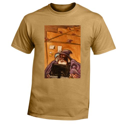 Beyond The Pond Adult Telemarketer Wizard Short Sleeve T-Shirt