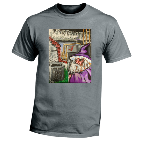 Beyond The Pond Adult HVACH Technician Wizard Short Sleeve T-Shirt