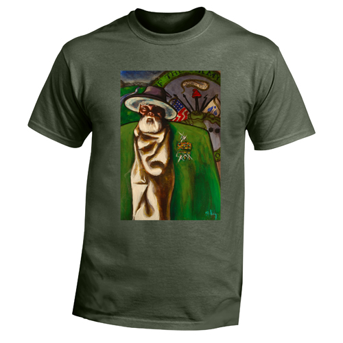 Beyond The Pond Adult Army Wizard Short Sleeve T-Shirt