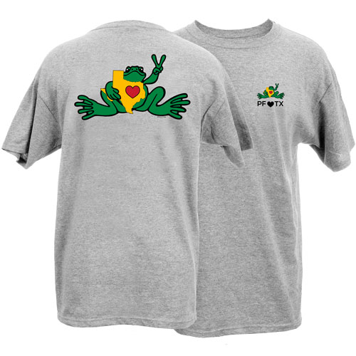 Peace Frogs Adult Love Texas Frog Short Sleeve T-Shirt