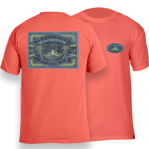 Peace Frogs Adult Hammock Co Frog Garment Dye Short Sleeve T-Shirt