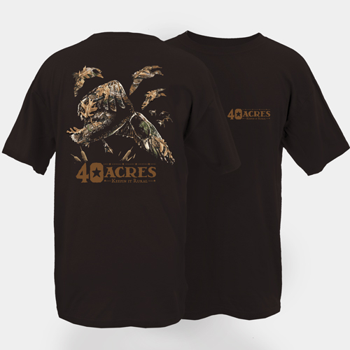 Fourty Acres Camo Duck Landing Adult Short Sleeve T-Shirt