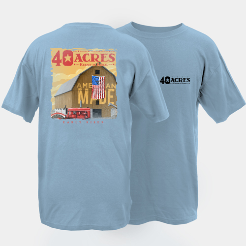 Fourty Acres Early Riser Adult Short Sleeve T-Shirt