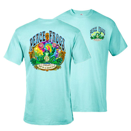 Peace Frogs Hop in Have Fun Frog Short Sleeve T-Shirt