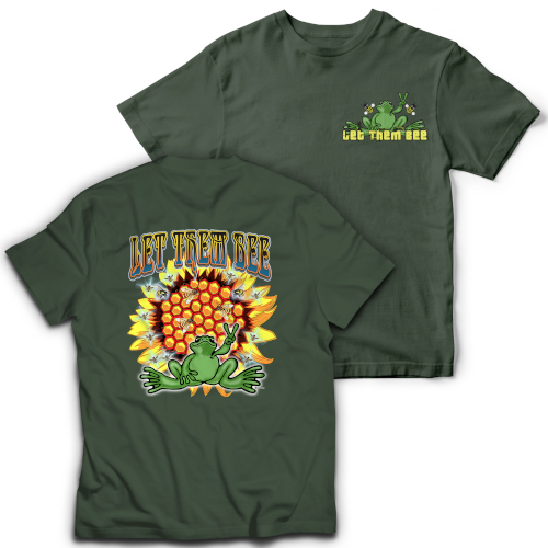 Peace Frogs Let Them Bee Frog Short Sleeve T-Shirt