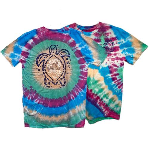 Peace Frogs Peace Turtle Frog Tie Dye Burst Short Sleeve T-Shirt