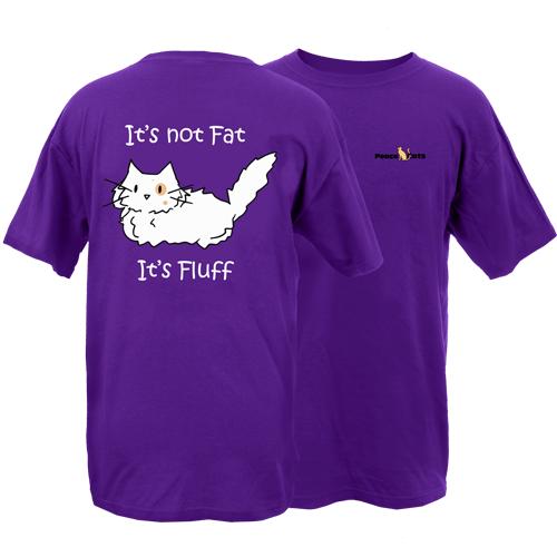 It's Fluff Cat Peace Dogs Short Sleeve T-Shirt