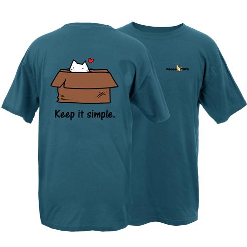 Keep It Simple Cat Peace Dogs Short Sleeve T-Shirt