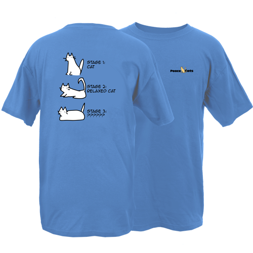 Stages of Cat Peace Dogs Short Sleeve T-Shirt