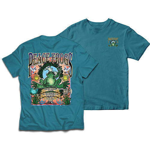 Peace Frogs Adult Nature Frog Short Sleeve T-Shirt