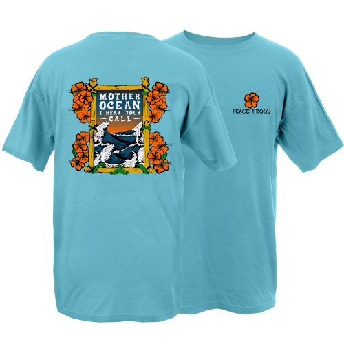Peace Frogs Adult Mother Ocean Frog Short Sleeve T-Shirt