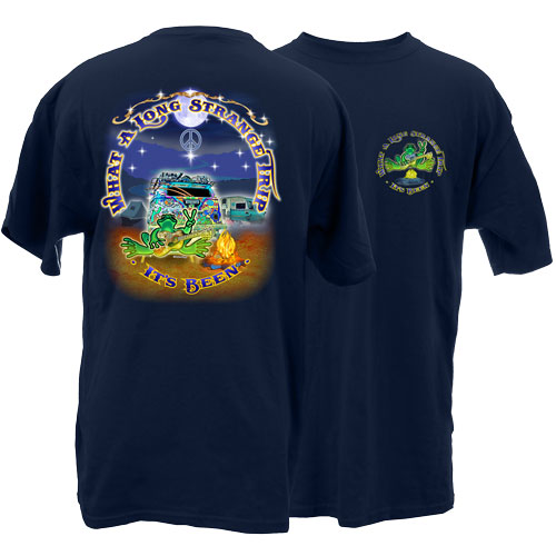 Peace Frogs Adult Strange Trip Frog Short Sleeve T-Shirt