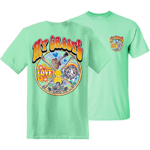 Peace Frogs Adult My Groove Frog Short Sleeve T-Shirt