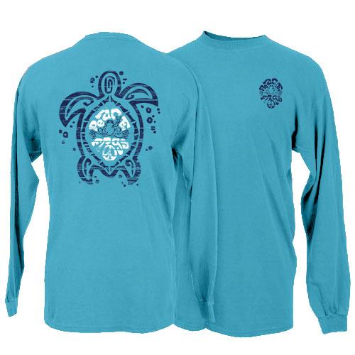 Peace Frogs Sea Turtle Long Sleeve T-Shirt
