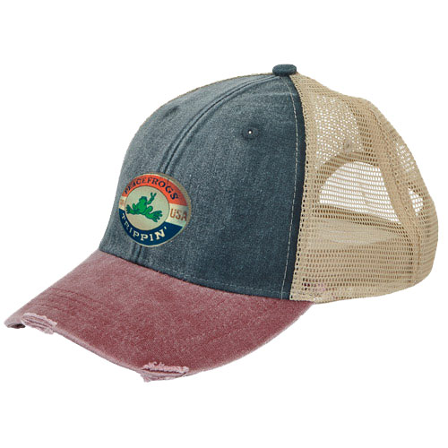 Peace Frogs Trippin Mesh Baseball Hat
