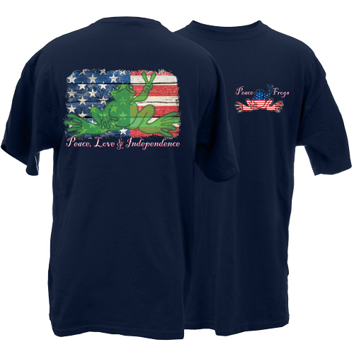 Peace Frogs Independence Frog Short Sleeve T-Shirt