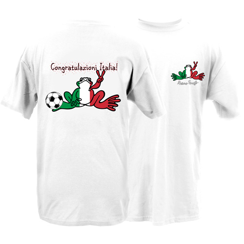 Peace Frogs Congrats Italy Frog Short Sleeve T-Shirt